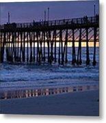 Oceanside Pier Sunset Metal Print