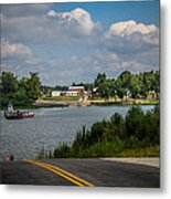 Ohio River At Cave In Rock Illinois Metal Print