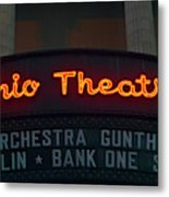 Ohio Theater Marquee Theater Sign Metal Print