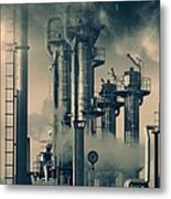 Oil And Gas Power Industry Metal Print