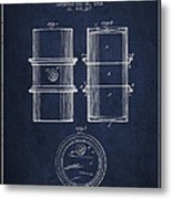 Oil Drum Patent Drawing From 1905 Metal Print
