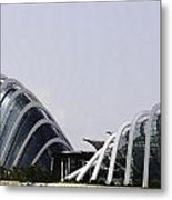 Oil Painting - Both Of The Conservatories Of The Gardens By The Bay In Singapore Metal Print