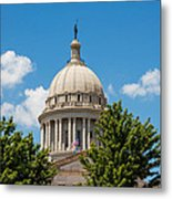Oklahoma State Capital Dome Metal Print