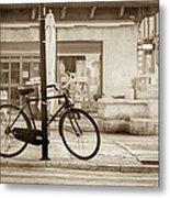 Old Bicycle Parking Metal Print