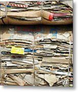 Old Cardboard Boxes Metal Print