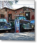 Old Cars On Route 66 Metal Print