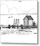 Old Fishermans Wharf Metal Print