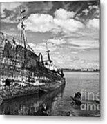 Old Fishing Ship Wreck Metal Print