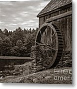 Old Grist Mill Vermont Metal Print by Edward Fielding