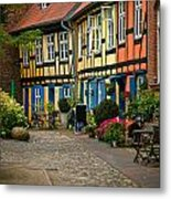 Old Houses At Johannes Kloster Stralsund Metal Print by David Davies