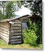 Old Log Homestead Metal Print