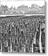 Old Piers Metal Print