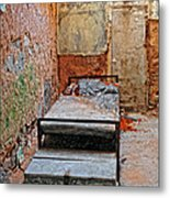 Old Prison Cell Metal Print