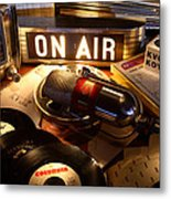 Old School Radio Metal Print