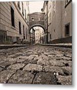 Old Street In Prague Metal Print