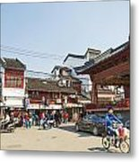 Old Town Of Shanghai China Metal Print