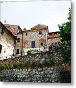 Old Towns Of Tuscany San Gimignano Italy Metal Print