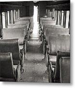 Old Train Seats Metal Print