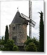 Old Provencal Windmill Metal Print