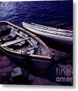 Old Wooden Boats At Night Metal Print