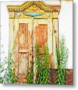 Old Wooden Window Metal Print