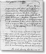 Olive Branch Petition, 1775 Metal Print
