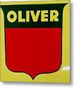 Oliver Sign Metal Print