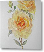 One Rose Or Two Metal Print