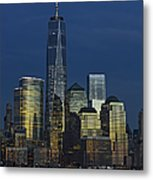 One World Trade Center At Twilight Metal Print