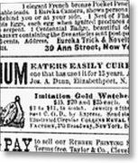 Opium Habit Cure, 1876 Metal Print