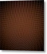 Orange Fractal Background Metal Print