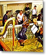 Orchestra Tuning Up In The Pit In Hermitage Theatre In Saint Petersburg-russia  Metal Print