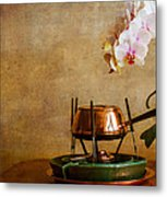 Orchid And Copper Fondue Metal Print