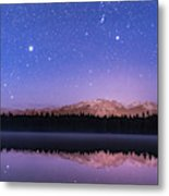 Orion Over Lake Annette Metal Print