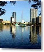 Orlando Fl Skyline Metal Print