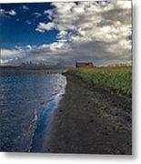 Osar Beach Iceland Metal Print