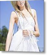 Outback Country Girl Metal Print
