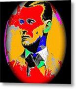 Outlaw Gang Leader Train Bank Robber Murderer Jesse James Collage 1875-2009 Metal Print