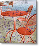 Outside Cafe  Metal Print