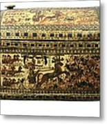 Painted Chest Depicting A King Metal Print