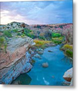 Painted River Gorge Metal Print by Sarah Crites