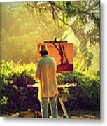 Within The Painting Metal Print