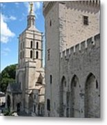 Palace Of The Pope - Avignon Metal Print