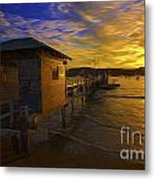 Palm Beach Sunset Metal Print