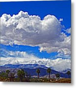 Palm Desert Clouds Metal Print