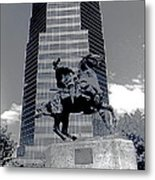 Pancho Villa Statue Downtown Tucson Arizona 1988-2008  Metal Print