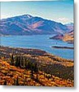 Panorama Of Fish Lake Yukon Territory Canada Metal Print