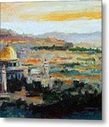 Panorama Of Jerusalem Metal Print