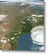 Panoramic View Of Planet Earth Metal Print