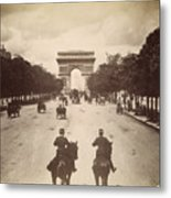 Paris Champs-�lys�es, C1900 Metal Print